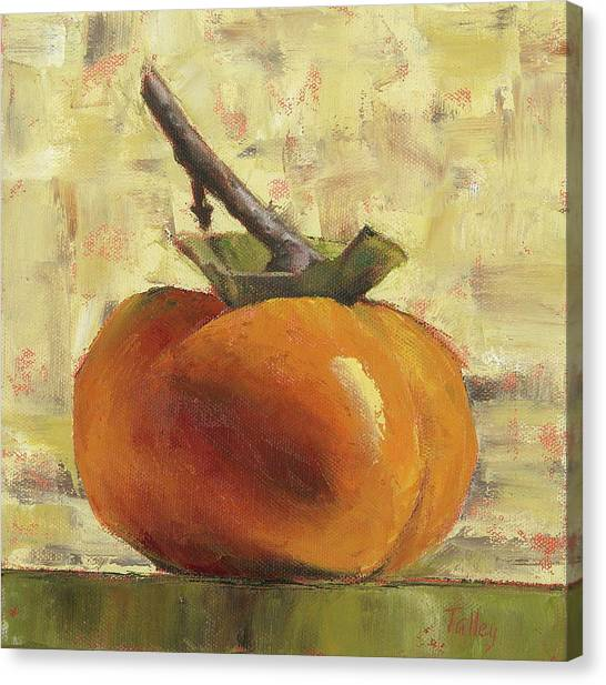 Fruit Canvas Print - Tuscan Persimmon by Pam Talley