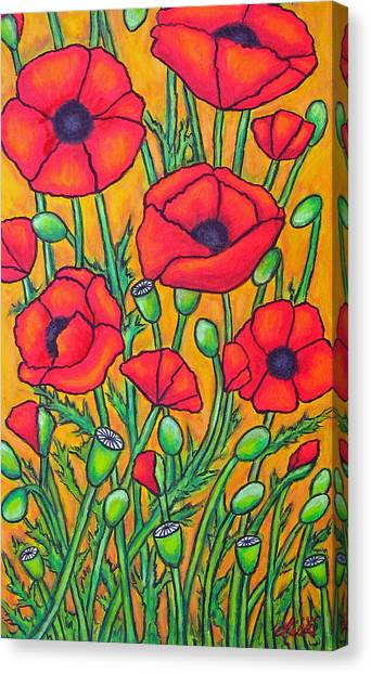 Tuscan Poppies - Crop 2 Canvas Print
