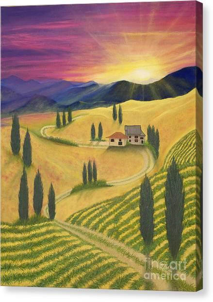 Tuscan Sunset B Canvas Print