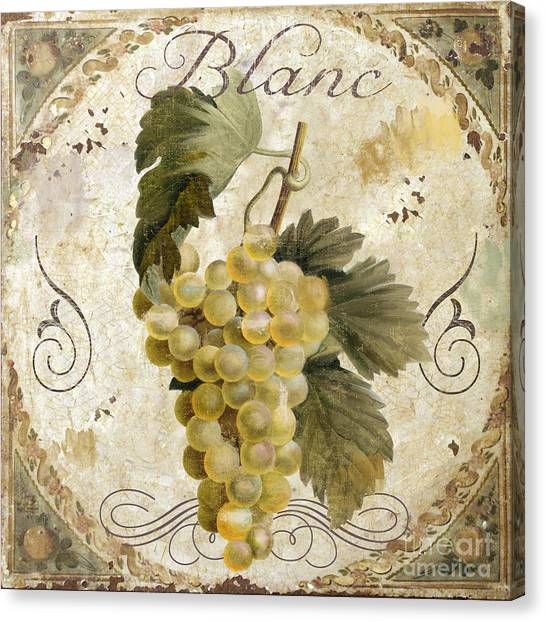 White Wine Canvas Print - Tuscan Table Blanc Wine by Mindy Sommers