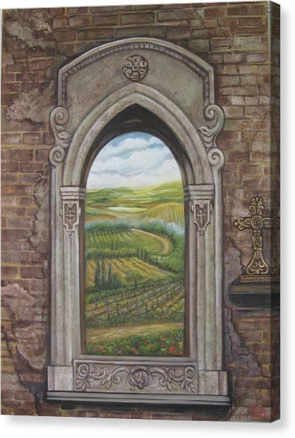 Tuscan View Canvas Print by Diann Baggett