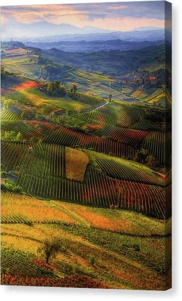 Tuscany, Italian Wineyards  Canvas Print