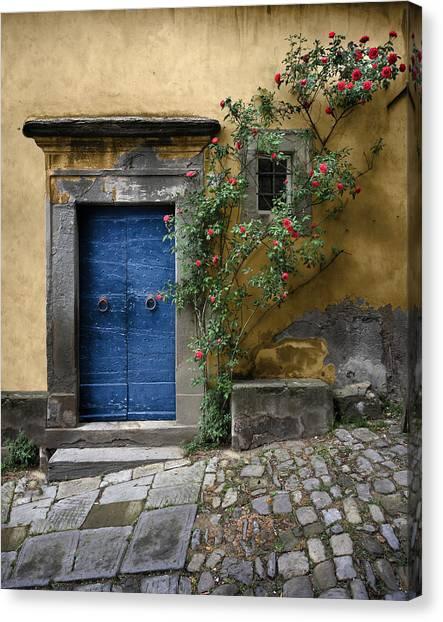Nella's Blue Door Canvas Print