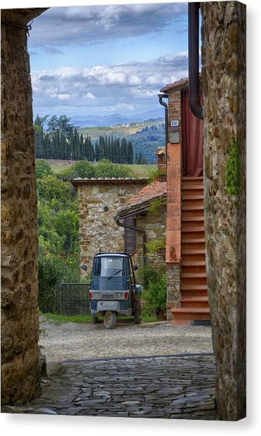 Tuscany Scooter Canvas Print