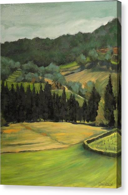 Tuscany View Canvas Print