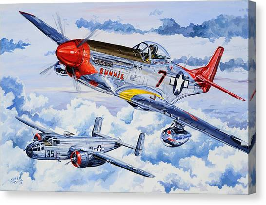 Bombers Canvas Print - Tuskegee Airman by Charles Taylor