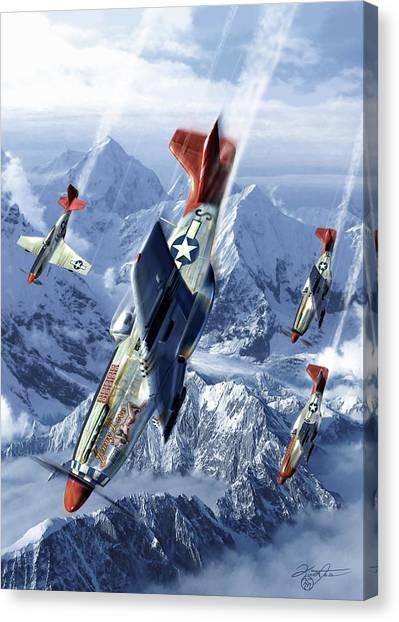 Prop Planes Canvas Print - Tuskegee Airmen  by Kurt Miller