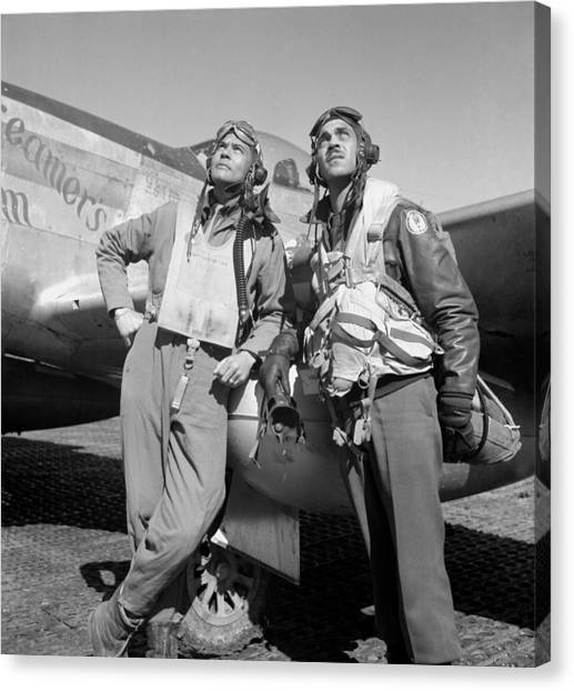 Pilots Canvas Print - Tuskegee Airmen by War Is Hell Store