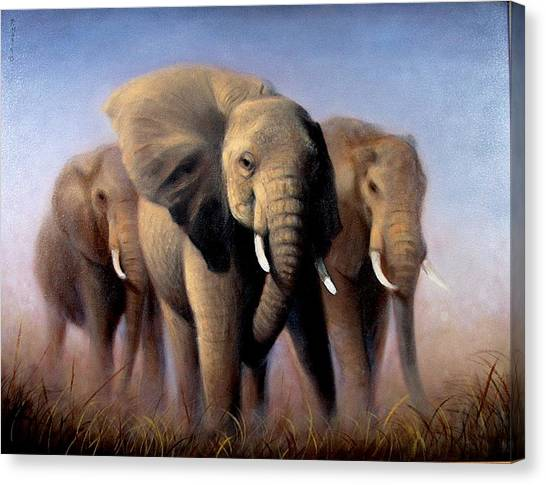 Tusks Canvas Print