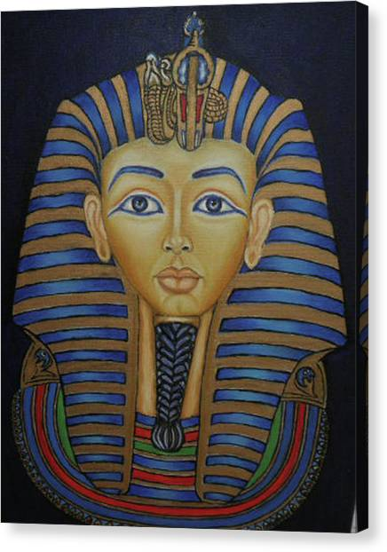 Tutankhamun Canvas Print by Margit Armbrust