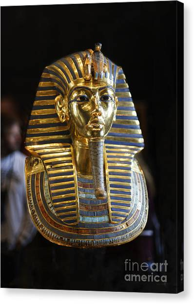 Tutankhamun's Magnificent Golden Death Mask. Canvas Print