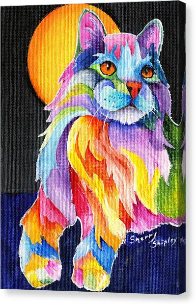 Tutti Fruiti Kitty Canvas Print