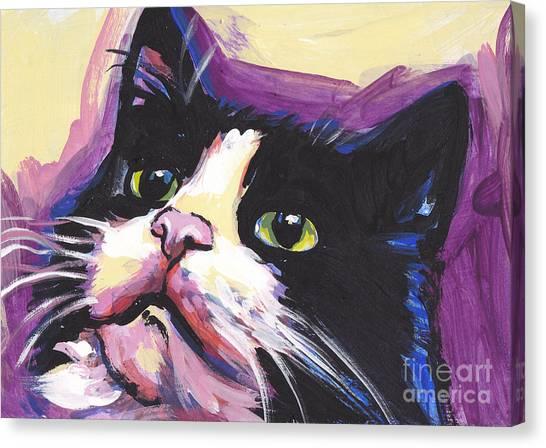 Tuxedo Canvas Print - Tuxedo Cat by Lea S