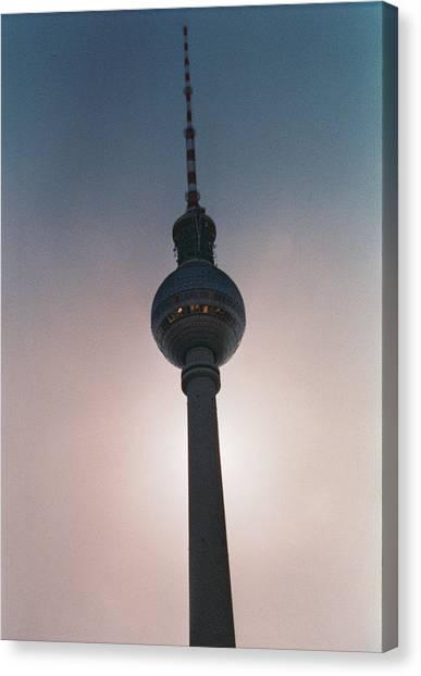 Tv Tower Berlin Canvas Print