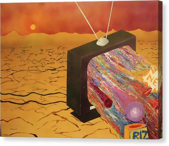 Tv Wasteland Canvas Print