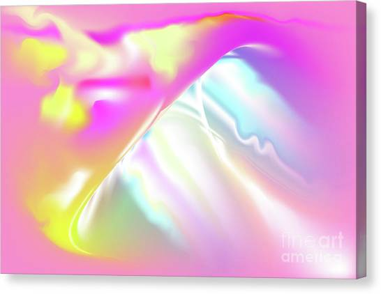 Canvas Print featuring the digital art Tvist - Abstract Art Print On Canvas - Digital Art - Fine Art Print - Underwate Print - Decorative W by Ron Labryzz