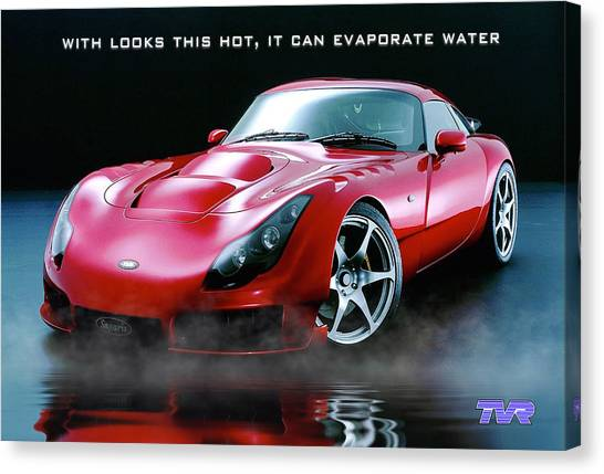 Tvr Evaporating Water Canvas Print