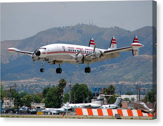 Twa Lockheed Super Constellation N6937c Canvas Print