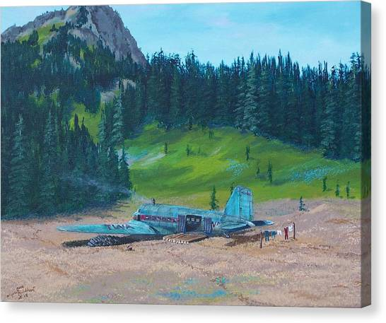 Twa Mountaintop Cabin Canvas Print