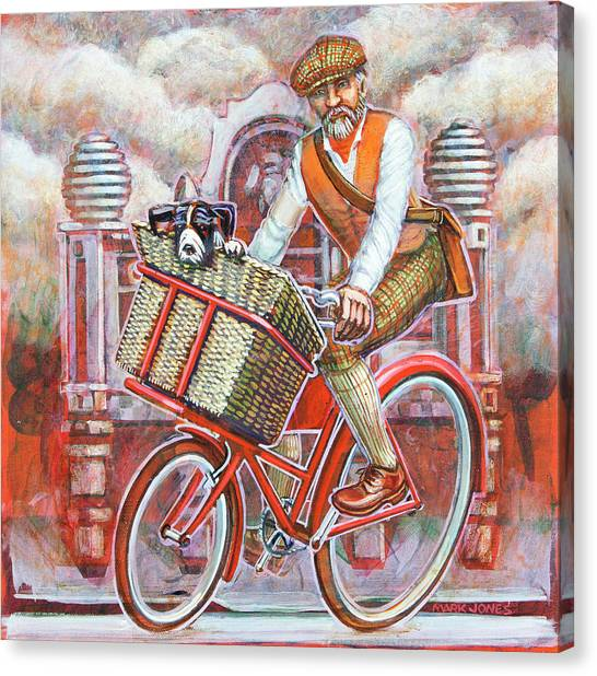 Tweed Runner On Red Pashley Canvas Print