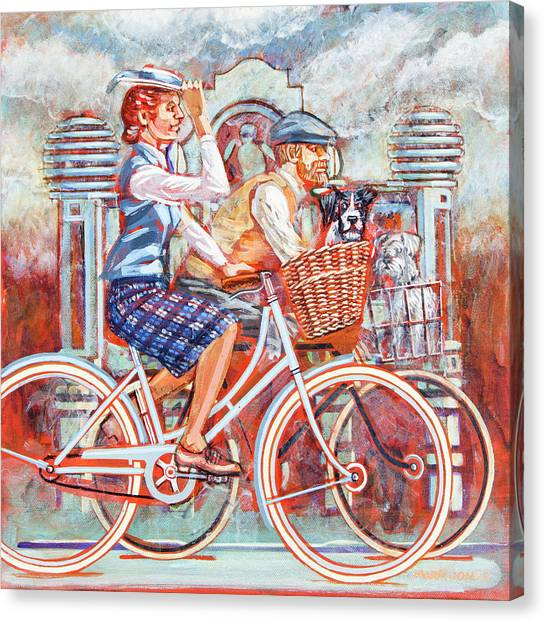 Tweed Runners On Pashleys Canvas Print