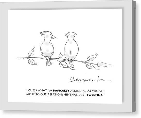 Tweeting Canvas Print