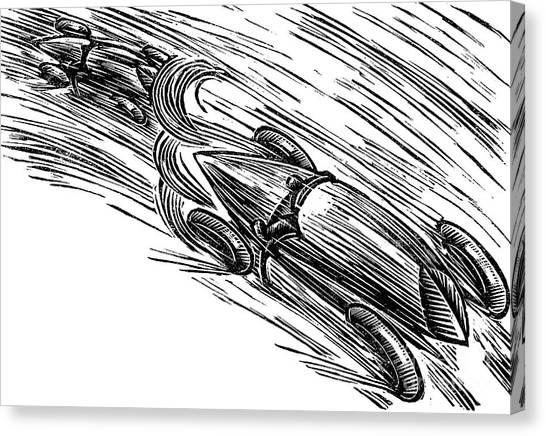 Accelerate Canvas Print - Twenties Grand Prix by German School