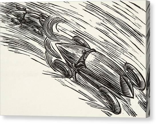 Accelerate Canvas Print - Twenties Motor Racing by German School