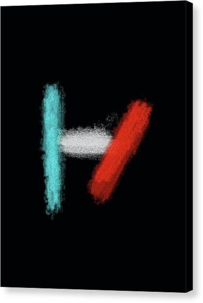 Twenty One Pilots Black Abstract Canvas Print
