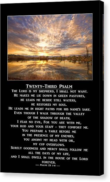 Twenty-third Psalm Prayer Canvas Print