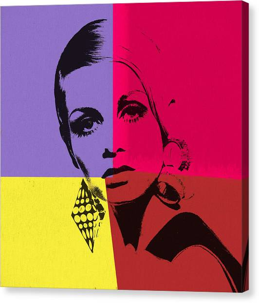 Hepburn Canvas Print - Twiggy Pop Art 1 by Dan Sproul