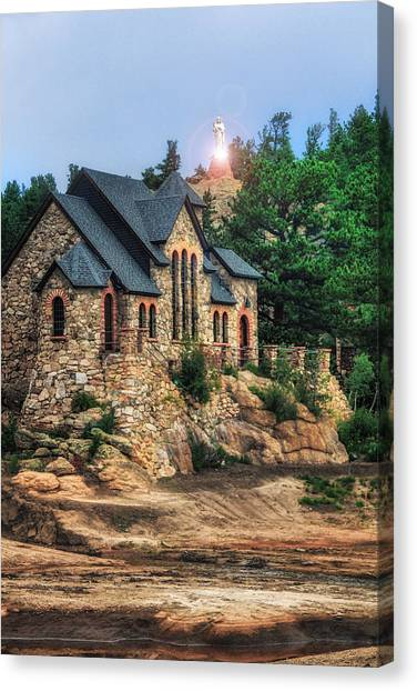 Twilight At Chapel On The Rock Canvas Print