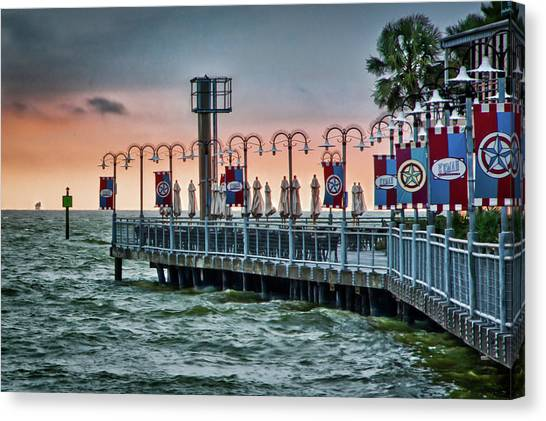 Twilight At Kemah Canvas Print