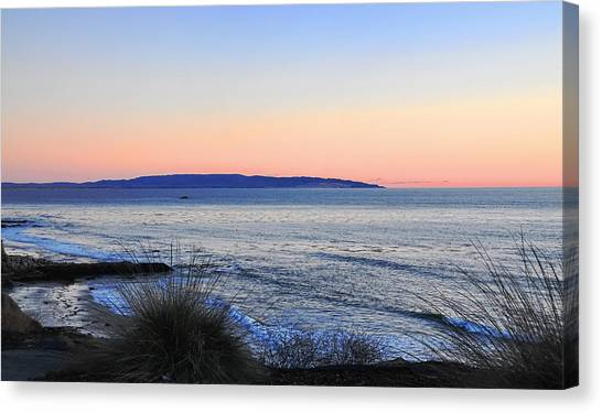 Twilight At Shell Beach Canvas Print by Lorrie Morrison