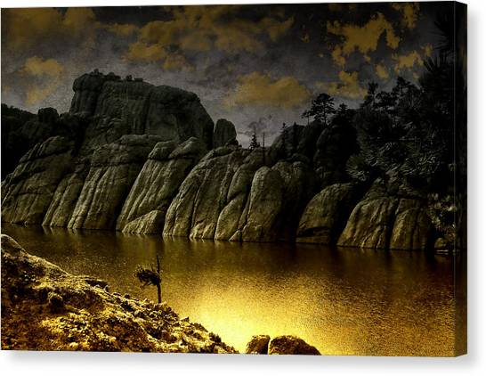 Twilight At The Lake Canvas Print