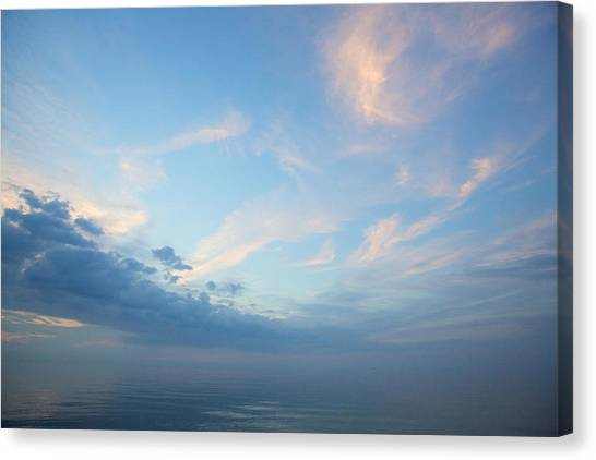 Twilight Clouds Over Lake Superior Canvas Print