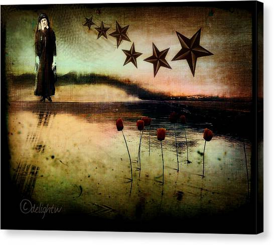 Canvas Print featuring the digital art Twilight by Delight Worthyn