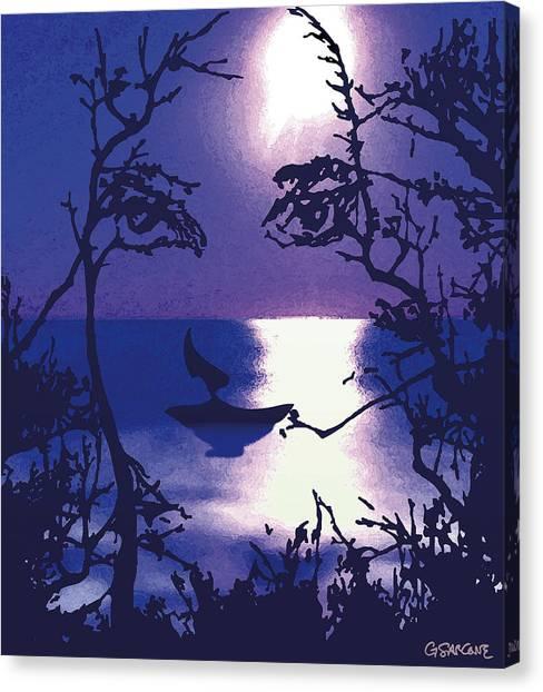 Twilight Face Canvas Print