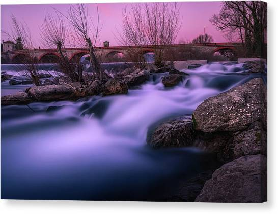 Twilight Falls Canvas Print