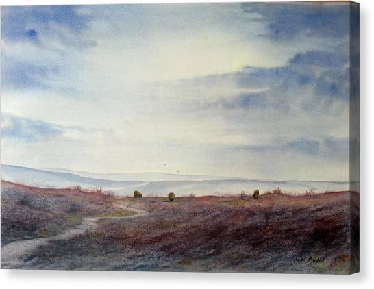 Twilight Settles On The Moors Canvas Print