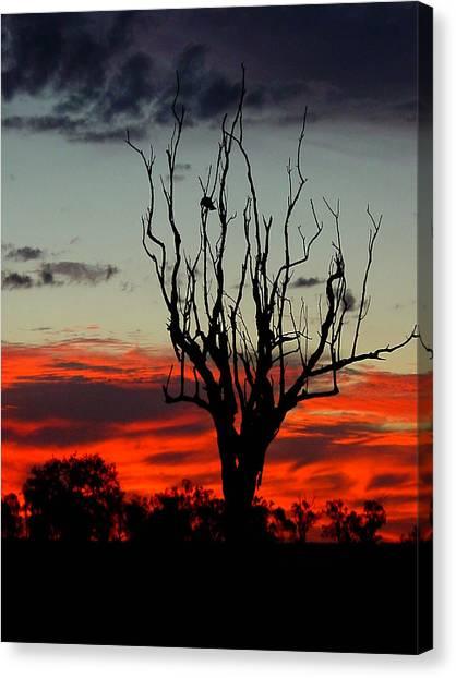 Sunset Horizon Canvas Print - Twilight Fire by Edan Chapman