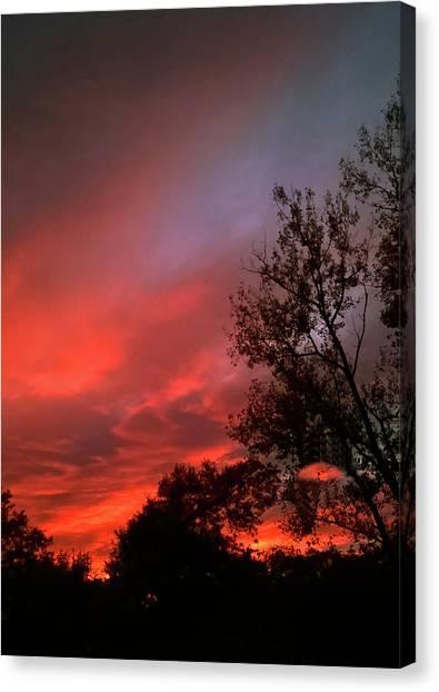 Twilight Fire Canvas Print
