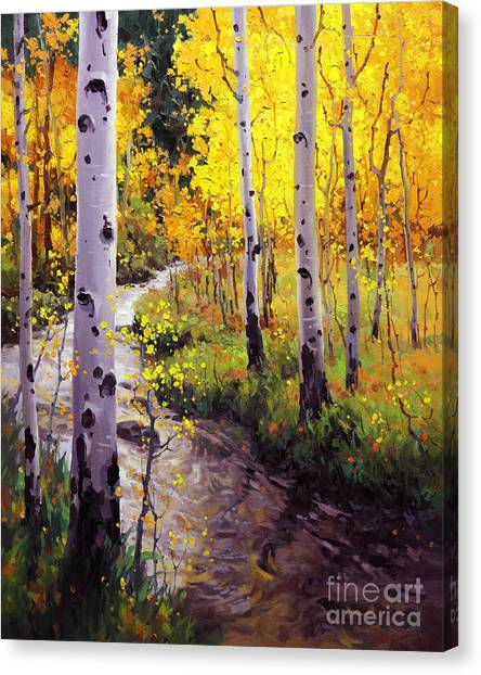 Kim Canvas Print - Twilight Glow Over Aspen by Gary Kim