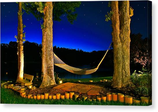Twilight Hammock Smith Mountain Lake Canvas Print
