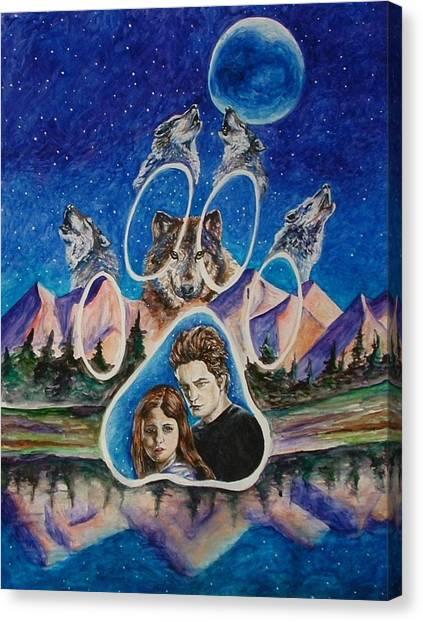 Twilight Imprinting Canvas Print by Andrea  Darlington