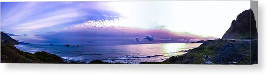 Twilight In Gold Beach Canvas Print