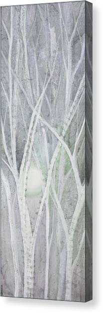 Cloudy Canvas Print - Twilight In Gray II by Shadia Derbyshire