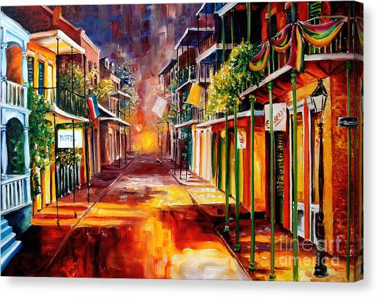 French Quarter Canvas Print - Twilight In New Orleans by Diane Millsap