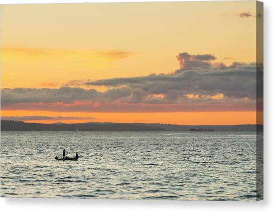 Twilight In Puget Sound  Canvas Print