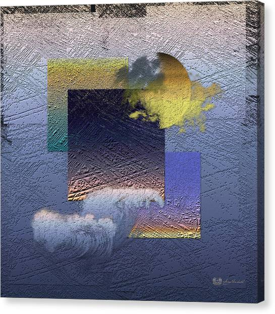 Ocean Sunsets Canvas Print - Twilight Interrupted By Ocean Breeze by Serge Averbukh